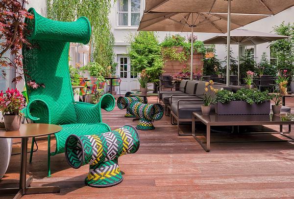 Das Stue's courtyard garden