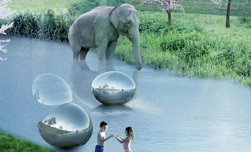 Being at one with nature is a major part of the design, moving away from the traditional caged zoo experience. / BIG