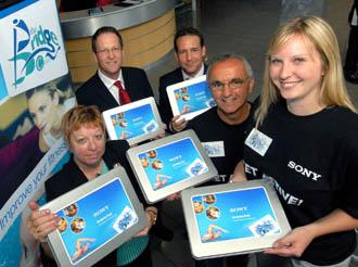 Sony workers get active