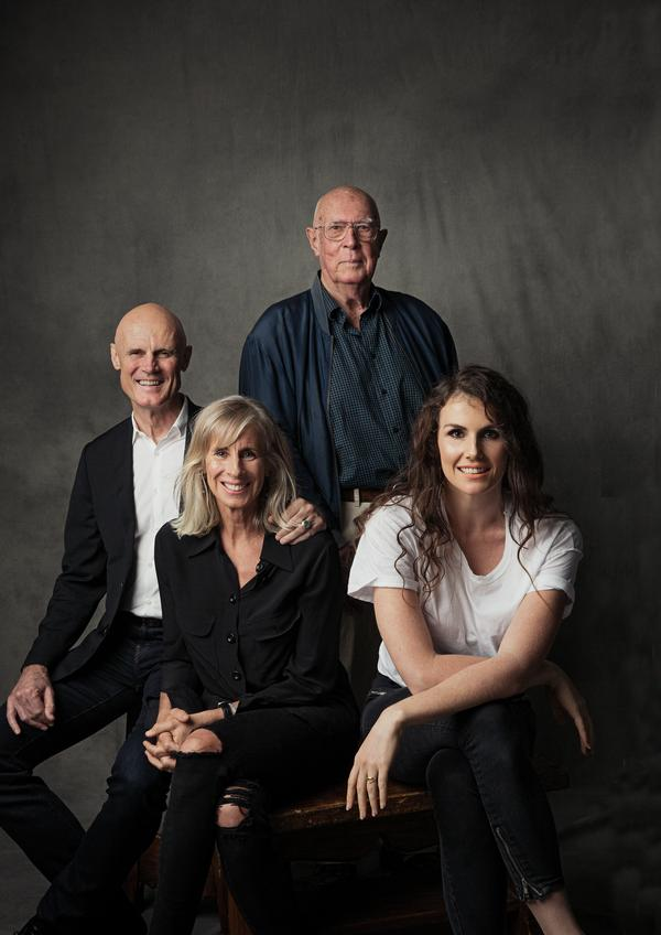Phillip, Jackie and Diana with Les. The family celebrates the 50th anniversary of its inception this year
