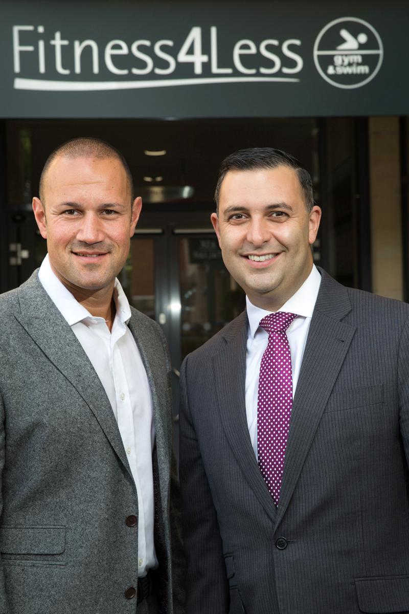Stuart Rosenberg (left) of Fitness4Less and Jamie Ward of Allied Irish Bank (GB)