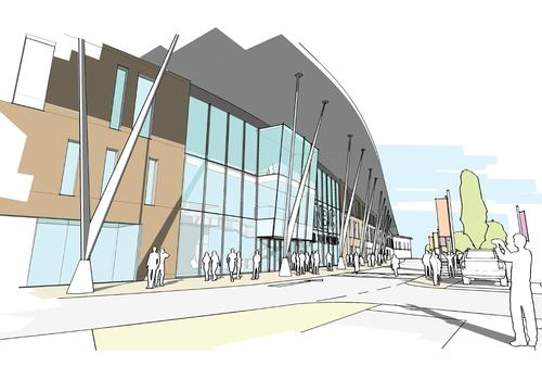 An artist's impression of the planned arena