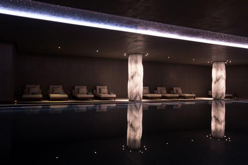 The club will include indoor and outdoor infinity pools and a private beach