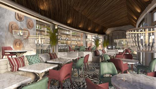 The resort also includes the island's first Peruvian restaurant