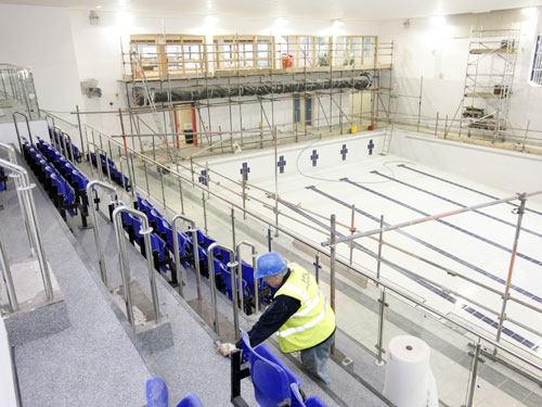 Work nears completion at Gateshead's Dunston Leisure Centre