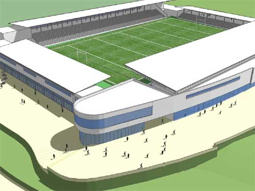 The new stadium has been designed by The Miller Partnership
