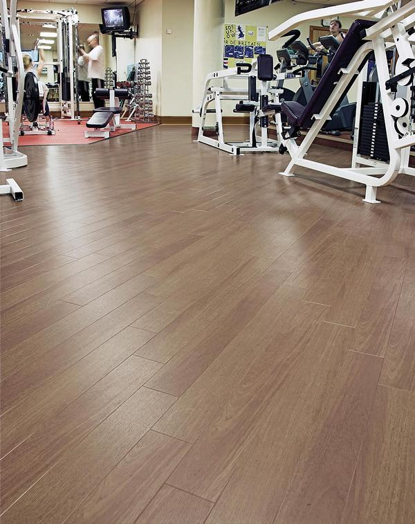 The Taralay safety flooring comes in a range of realistic wood finishes
