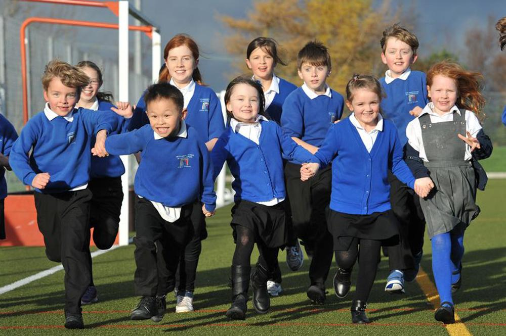 The Daily Mile has had a positive impact on improving physical activity among children in Scotland but the new report says the UK's devolved nations must do more to share lessons learned / Community School of Auchterarder