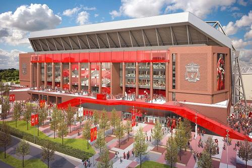 The expansion of the Main Stand will be the first phase of the £150m Anfield redevelopment project / Liverpool FC / KSS Group