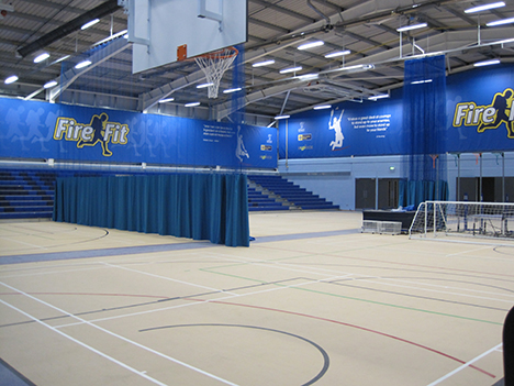 The Hub is also home to a sports hall