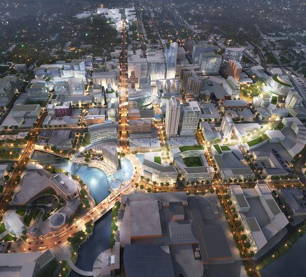 Perkins Eastman's masterplan will transform Rochester's downtown skyline and streetscape