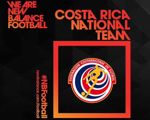 Costa Rica is the latest addition to New Balance's football kit stable