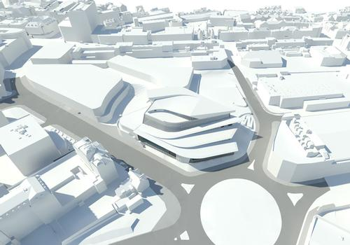 The 'super-sustainable' pool will be located in the heart of Exeter city