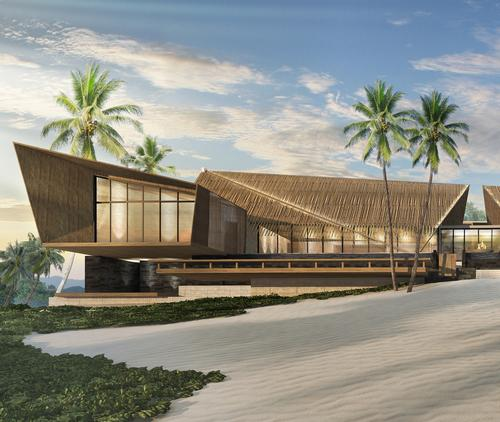Designed by Bangkok-based architectural firm Blink Design Group, the Rosewood Clearwater Bay blends harmoniously with the surroundings / Rosewood Hotels