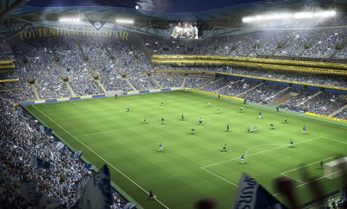 An artist's impression of Spurs' new home