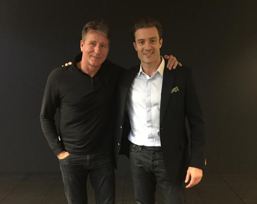 Fitness World chair and founder Henrik Rossing (left) with the chain's vice chair Rasmus Ingerslev