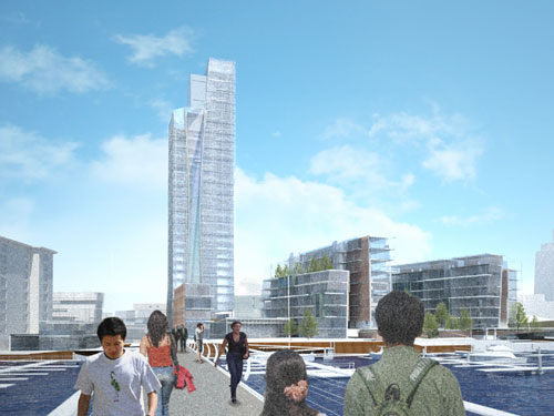 Wales' tallest building forms part of Cardiff Bay's Bayscape scheme