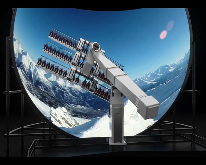 Simworx's 360° Rotating Flying Theatre