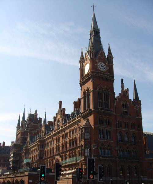 The historic St Pancras building