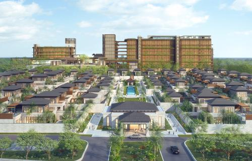 Natural materials and green spaces will feature prominently in the design