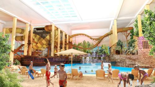 The waterpark follows a historic theme based on the Swedish East India Company, which has strong roots in Gothenburg / Liseberg