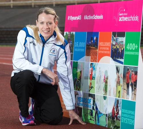 Olympic hurdler and Active Schools Ambassador Eilidh Child at the £50m funding announcement / Sportscotland
