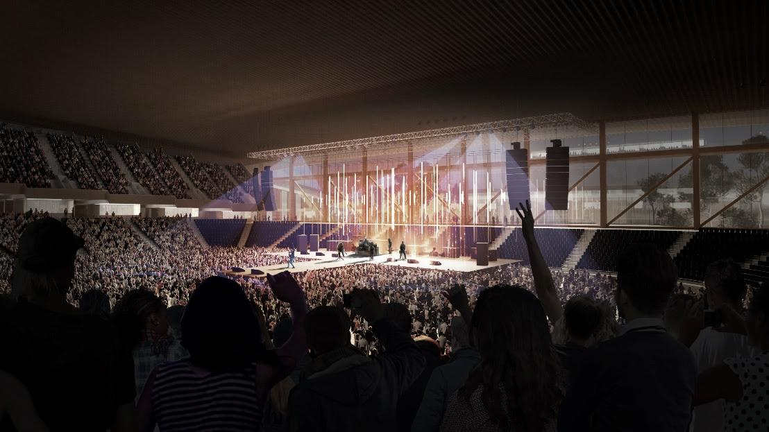 Large-scale concerts will be held in the East Austin District / Bjarke Ingels Group
