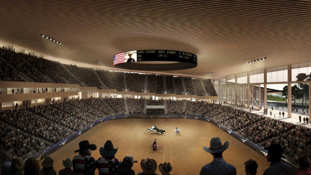 A 15,000 multi-purpose arena will host Rodeo Austin, musical acts, basketball, hockey and other programmes / Bjarke Ingels Group