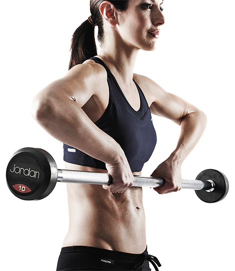 Free weights can also be used by those wanting aerobic gains