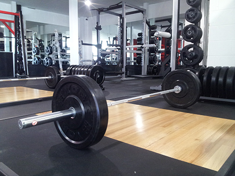York Fitness' free weights an Ab Salute fit