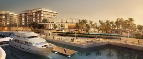 The resort also includes Bulgari's first yacht club and marina / Bulgari