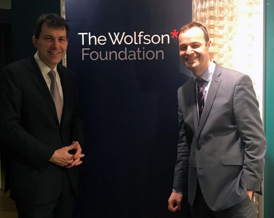 Minister John Glen (left) and Wolfson Foundation CEO Paul Ramsbottom launched the new fund today (13 December) / DCMS