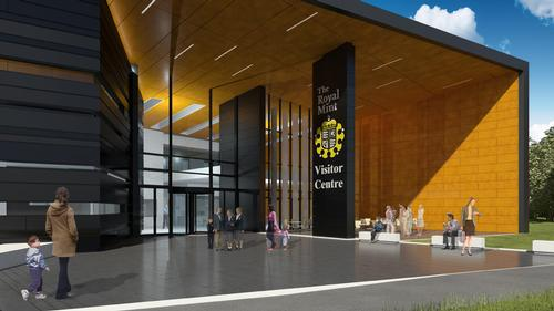 An artist's rendering of how the visitor centre will look