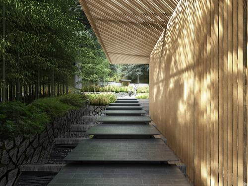 The team plan to use local wood and stone as much as possible / Kengo Kuma & Associates