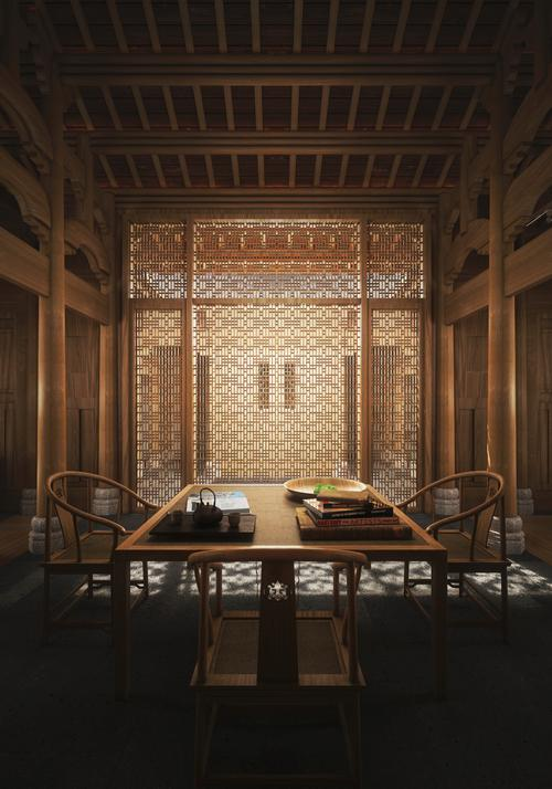 Kerry Hill Architects have created refined wooden interiors with Aman's signature Asian-influenced minimalist design aesthetic