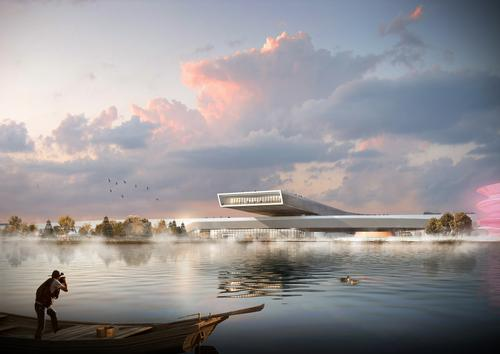 The Science & Technology Museum is Perkins+Will's most recent civic and cultural project in China