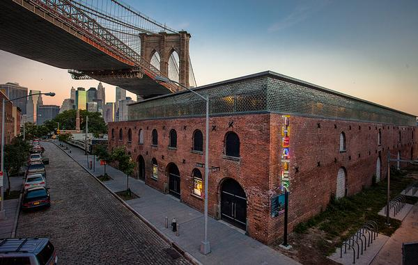 Charcoalblue transformed an old New York warehouse into an atmospheric theatre