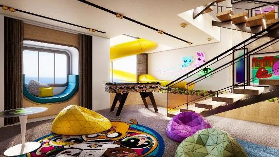 Rooms are themed around Cartoon Network characters including The Powerpuff Girls, Johnny Bravo, Ben 10 and We Bare Bears