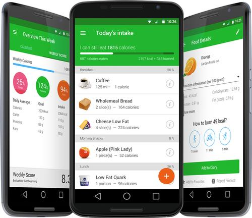 The nutrition app is available for both for iOS and Android