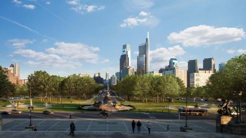 Foster + Partners won an international competition to design the Comcast Innovation and Technology Center, which will be America's tallest outside New York and Chicago / Foster + Partners