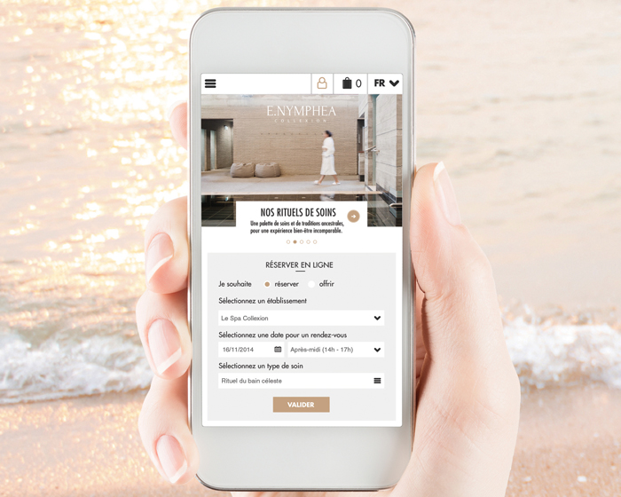 E-commerce solution links to Nymphéa spa software