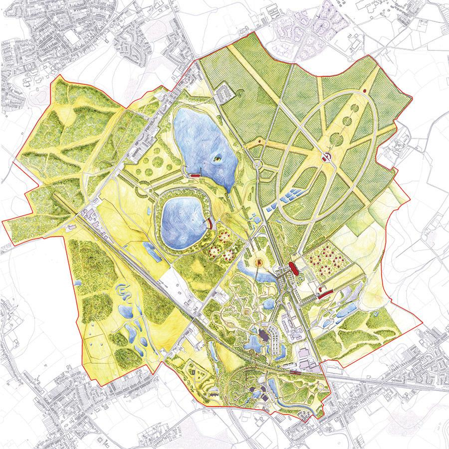 The project is one of several proposed by Cullinan in a masterplan for the site called 'Heart of the Forest', first developed over a decade ago / Cullinan Studio