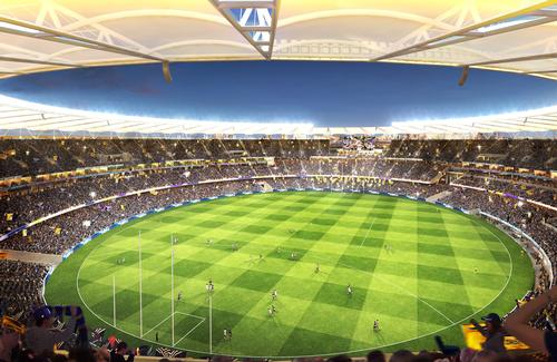 Construction work begins on 60,000-capacity Perth Stadium