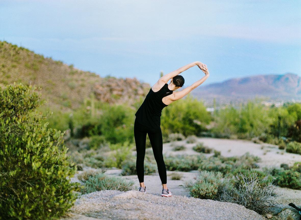 The outside yoga lawn provides mountain vistas for sunrise and sunset programmes / Civana