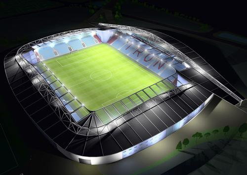 Frank Whittle Partnership's vision of how the stadium will look / Frank Whittle Partnership