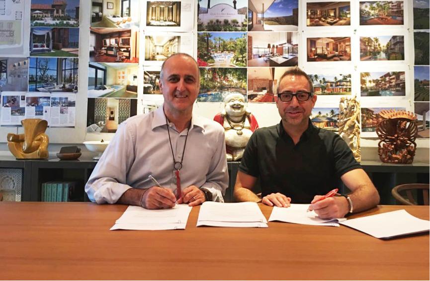 GOCO Hospitality CEO Ingo Schweder, left, and Space Cycle CEO Matthew Allison / GOCO Hospitality