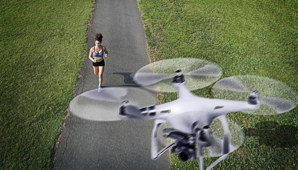 In the future, will motivational drones guide you on your run? / Photograph: SHUTTERSTOCK.COM