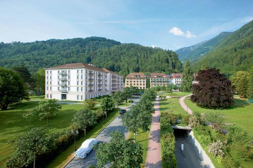 Part of the Grand Resort Bad Ragaz, the five-star wellbeing and medical health resort first opened in 1869