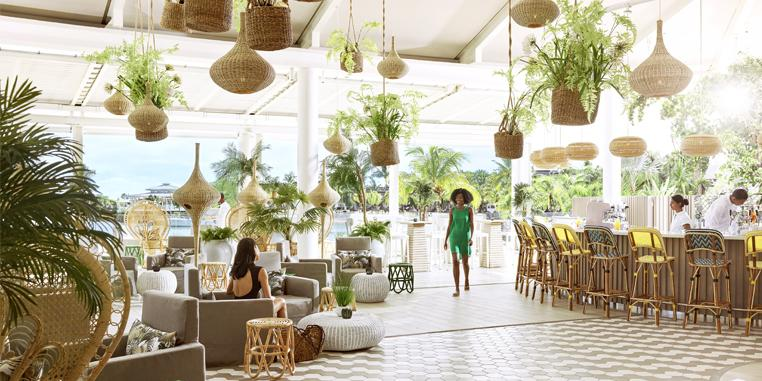"Kelly Hoppen and Mauritius designer Jean-Francois Adam, who have reimagined the resort in a ""simple-yet-refined"" style"