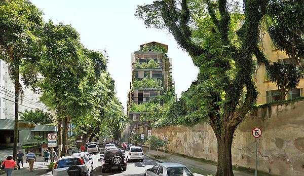 The vertical garden provides a sense of continuity between the hotel and its surroundings / IMAGES: Ateliers Jean Nouvel